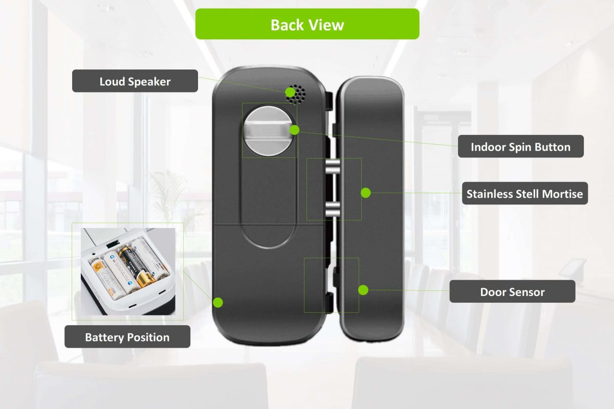 LK-1101 Fingerprint Glass Door Lock