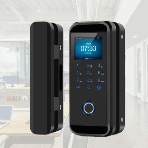LK-9908 Semiconductor Fingerprint Glass Door Lock