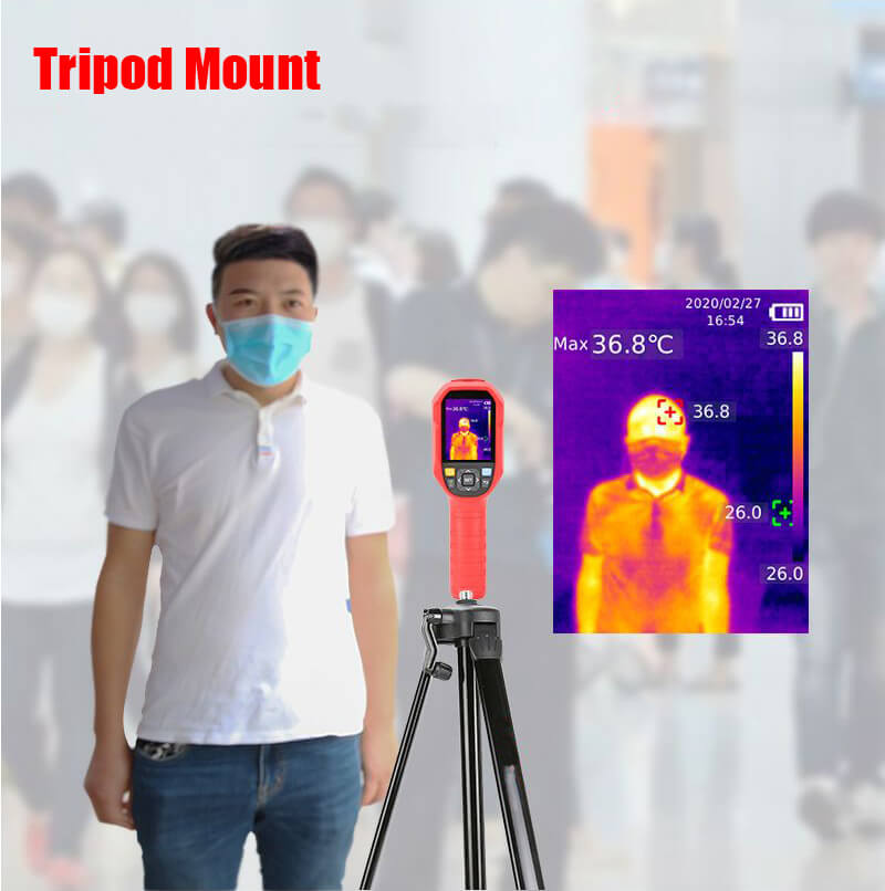 uti165K thermal imaging thermometer with standard tripod mounting port