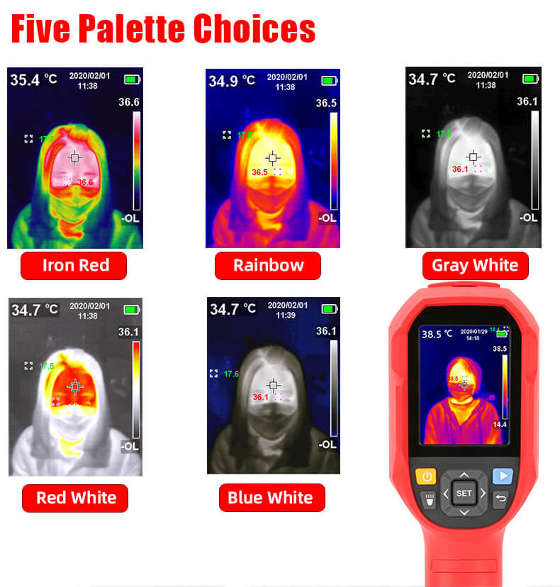 uti165k thermal imaging thermometer handheld device