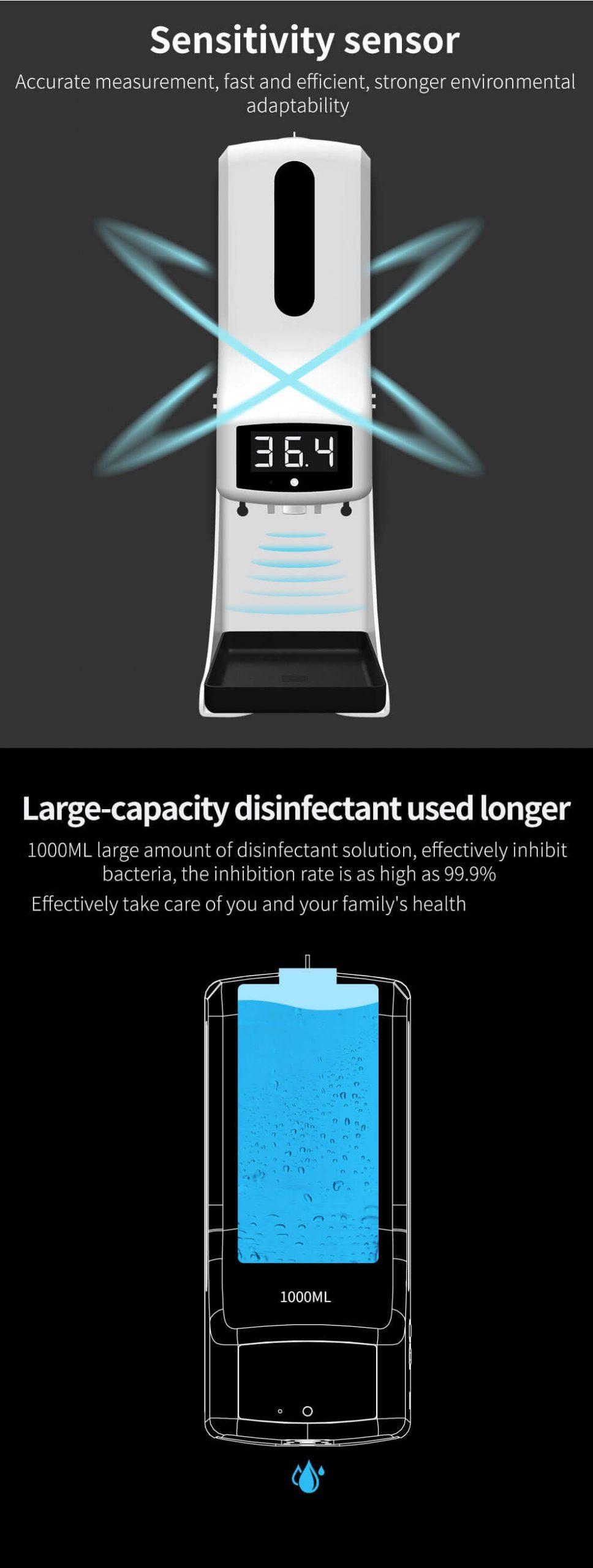 K9Pro Dispenser with Temperature Measurement