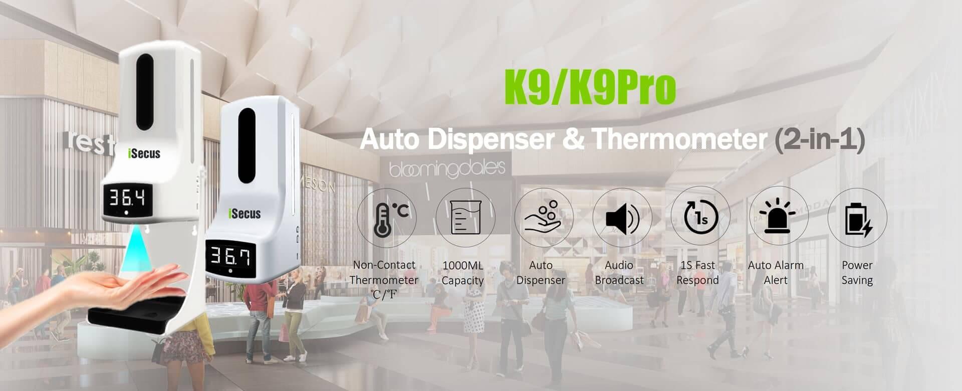 K9-K9Pro Auto Dispenser Banner-www.isecus.com