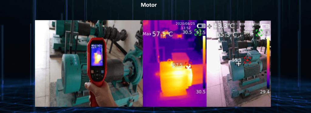 Thermal Imaging Camera Motor Inspection