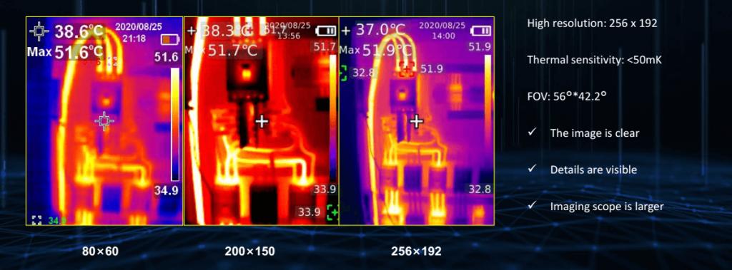 Thermal Imaging Camera Resolution Comparison