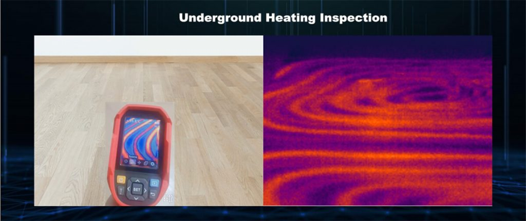 Thermal Imaging Camera Underground Heating Inspection