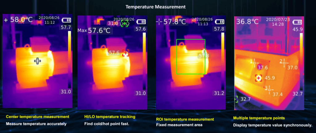 Thermal Imaging Pictures Temperature Measurement