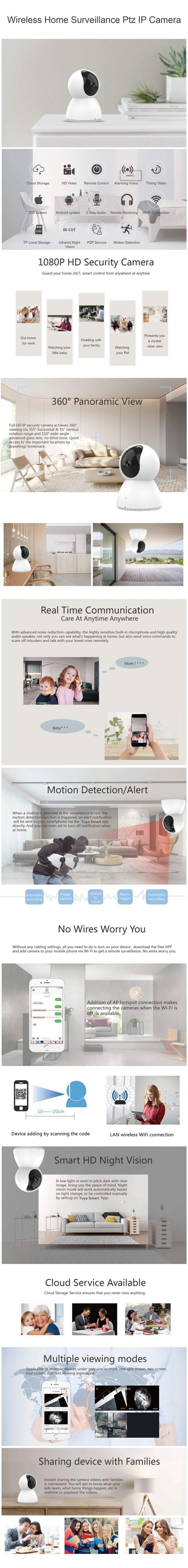 C230 Tuya 1080P IP Camera for home security