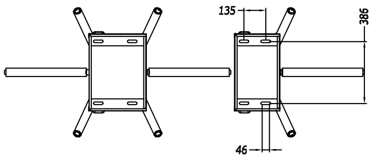 TS129-2 Double Tripod Turnstile Measurement-P2