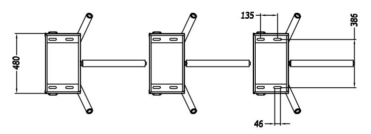 TS129(similar to ZKTeco TS1000) Tripod Turnstile
