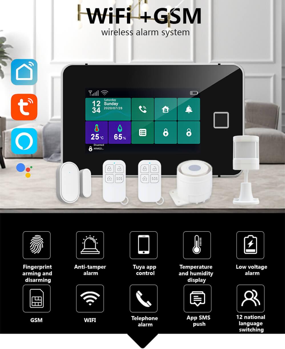 Touch Sreen WiFi Alarm System Kit-P1