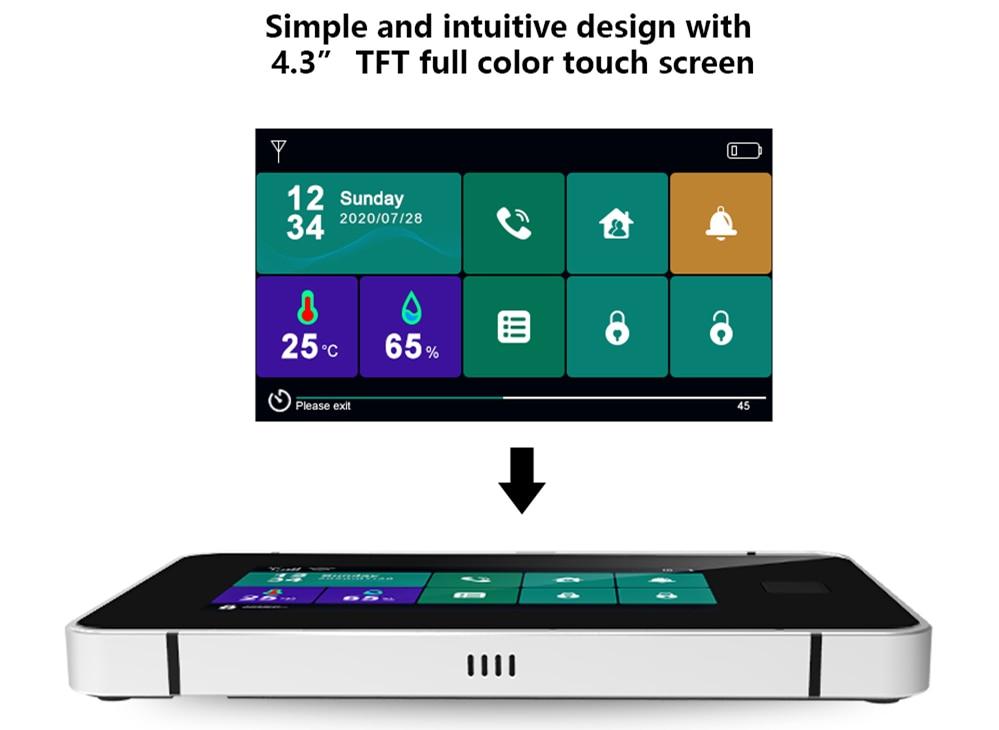 Touch Sreen WiFi Alarm System Kit-P10