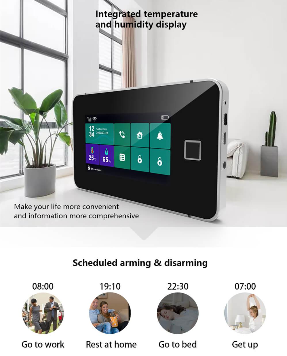 Touch Sreen WiFi Alarm System Kit-P3