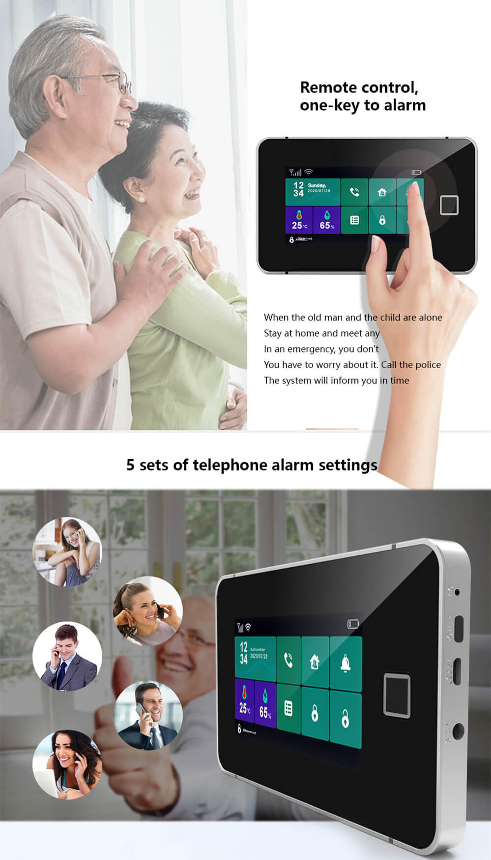 Touch Sreen WiFi Alarm System Kit-P6