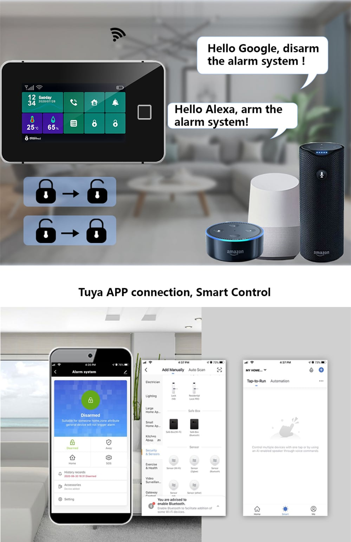 Touch Sreen WiFi Alarm System Kit-P7