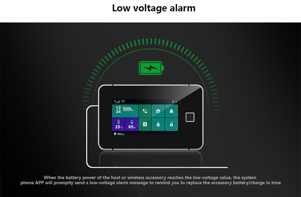 Touch Sreen WiFi Alarm System Kit-P8