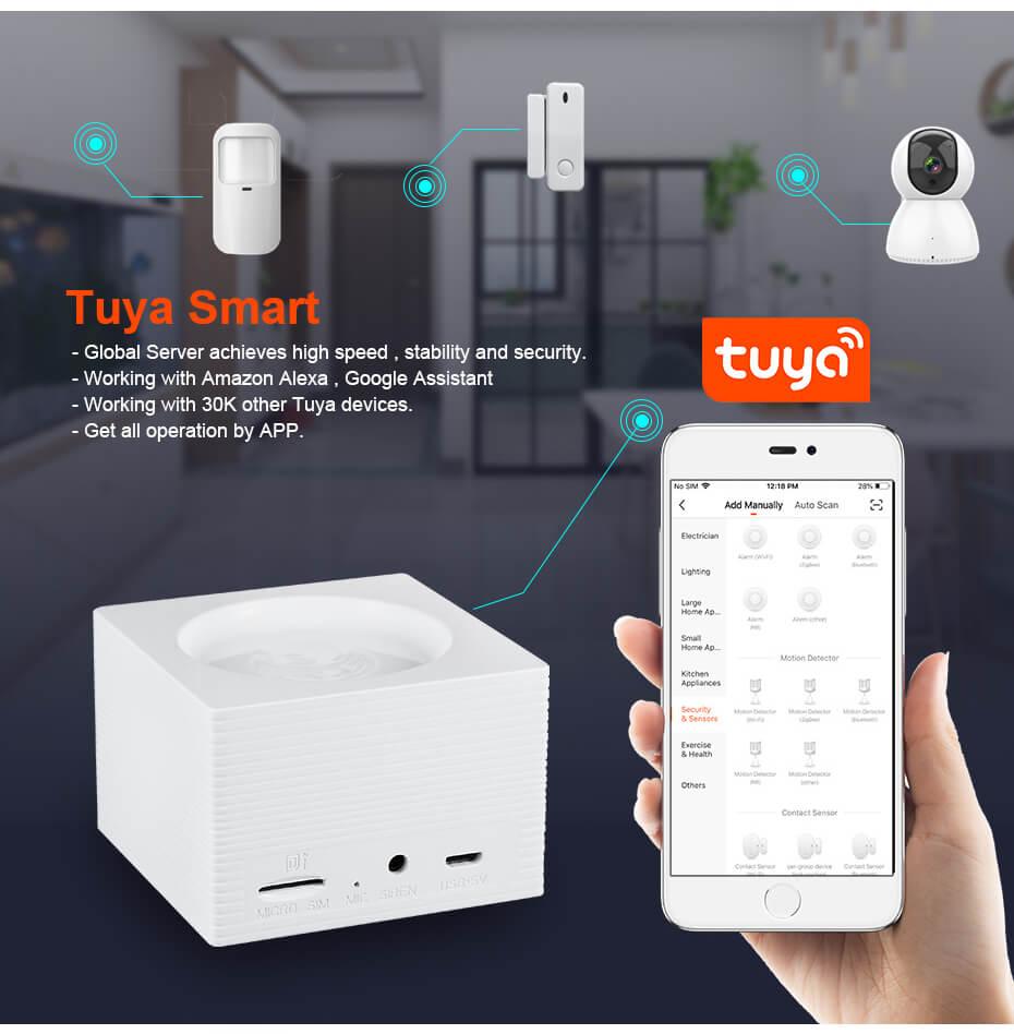 Tuya Smart WiFi Alarm System Kit G95-Marketing P1