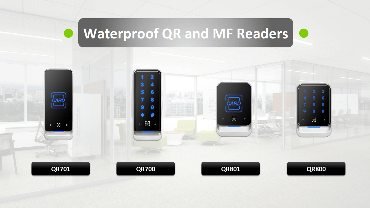 QR and RFID Wiegand Reader for Access Control from iSecus